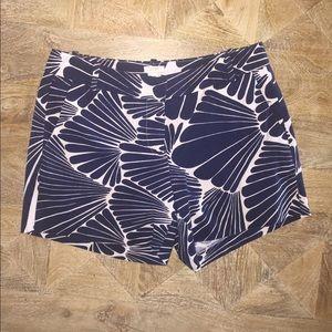 JCREW Navy Floral Shorts. Size: 4